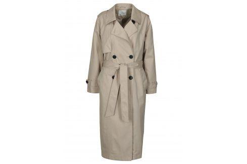 Béžový trenčkot Selected Femme Week trenčkoty a lehké kabáty