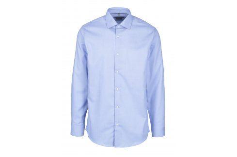 Světle modrá vzorovaná formální košile Seven Seas Dobby formální