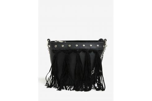 Černá crossbody kabelka s třásněmi Miss Selfridge kabelky