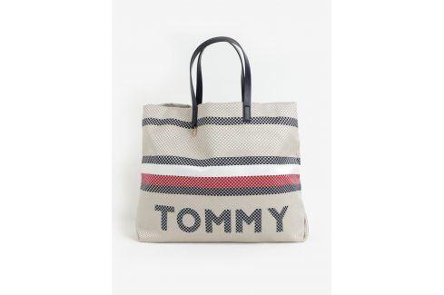 Béžový metalický shopper Tommy Hilfiger kabelky