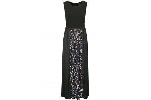 Černé maxi šaty s plisovanou sukní DKNY šaty na denní nošení