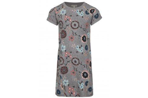 Šedé vzorované holčičí mikinové šaty small rags Gerda Šaty