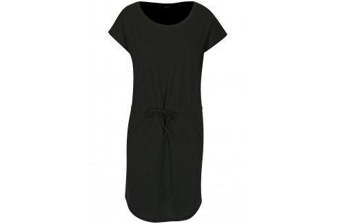 Černé šaty s krátkým rukávem ONLY May šaty na denní nošení