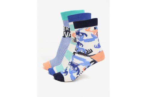Sada tří párů klučičích ponožek s motivem kraba Tom Joule Brilliant ponožky