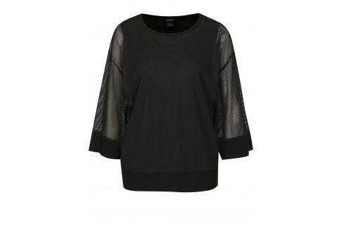 Černá halenka s průsvitnými rukávy DKNY halenky
