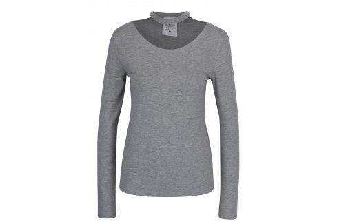 Šedé dámské tričko s chokerem Cheap Monday trička s dlouhým rukávem