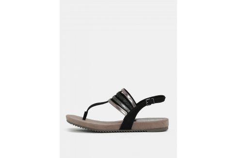 Hnědo-černé sandály Tamaris sandály