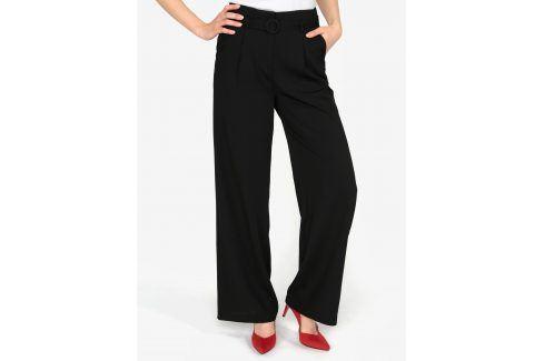 Černé volné kalhoty s vysokým pasem a páskem VERO MODA Emmy Džíny, kalhoty, legíny