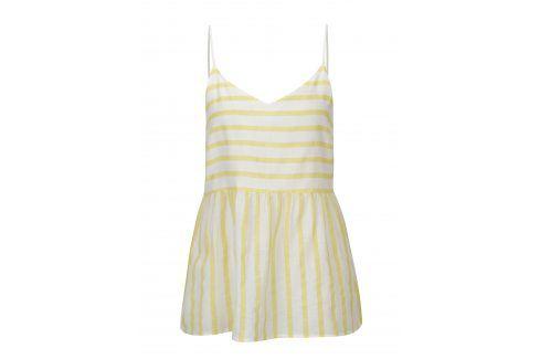Bílo-žluté pruhované tílko VERO MODA Sunny Móda pro ženy