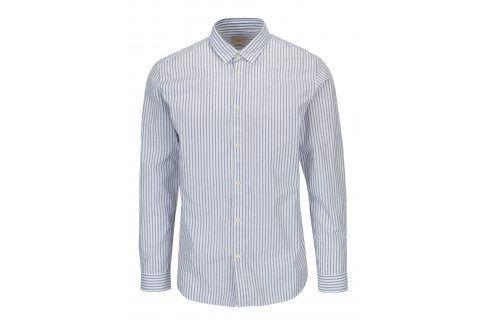 Modro-bílá pruhovaná slim fit košile Selected Homme One Louis neformální