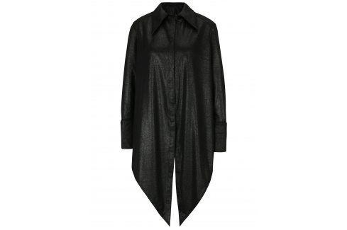 Černá dlouhá košile s metalickým vzorem La femme MiMi košile