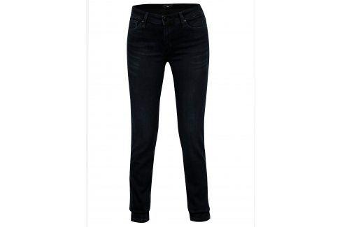 Tmavě modré dámské slim fit džíny s vysokým pasem Cross Jeans Džíny, kalhoty, legíny