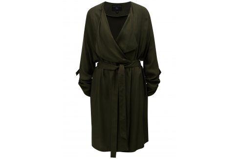 Khaki lehký kabát s 3/4 rukávy Dorothy Perkins trenčkoty a lehké kabáty