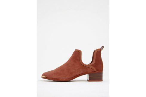 Cihlové semišové kotníkové boty Ted Baker Twillo Boty