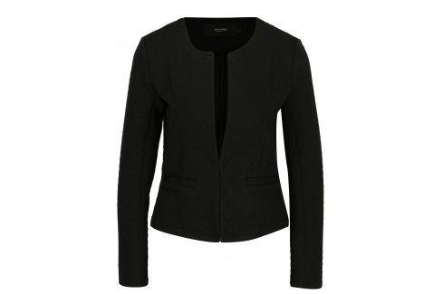 Černé sako s jemným vzorem VERO MODA Mia Bundy, kabáty