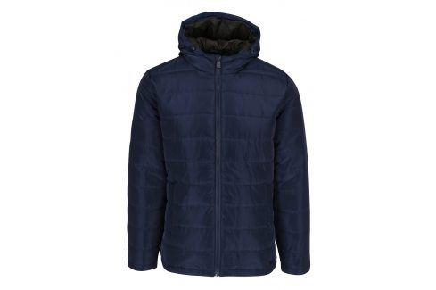 Tmavě modrá prošívaná bunda s kapucí ONLY & SONS Jonnie bundy