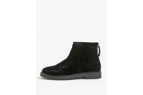 Černé dámské semišové kotníkové boty Vagabond Christy Boty