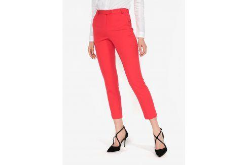Červené kalhoty s vysokým pasem Miss Selfridge Džíny, kalhoty, legíny