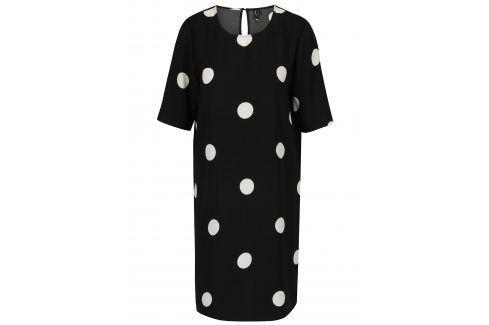 Černé puntíkované šaty VERO MODA Dot šaty na denní nošení