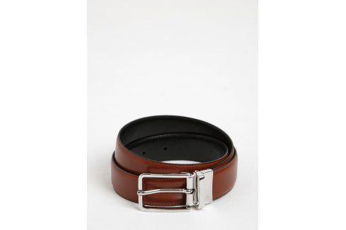 Hnědý pánský kožený pásek se sponou GANT pásky