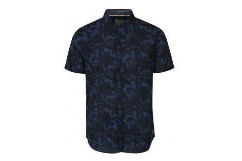 Tmavě modrá květovaná slim fit košile Blend neformální