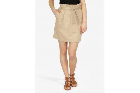 Béžová sukně s páskem ONLY Alexandra Krátké