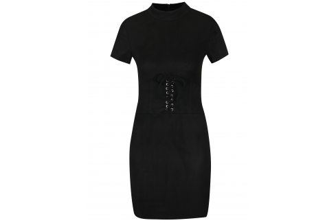 Černé minišaty v semišové úrpavě AX Paris šaty na denní nošení