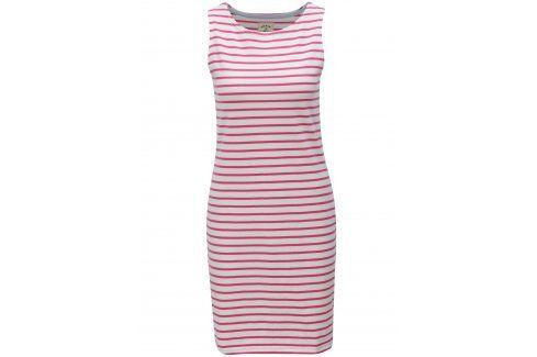 Růžovo-bílé pruhované šaty Tom Joule Jersey Móda pro plnoštíhlé