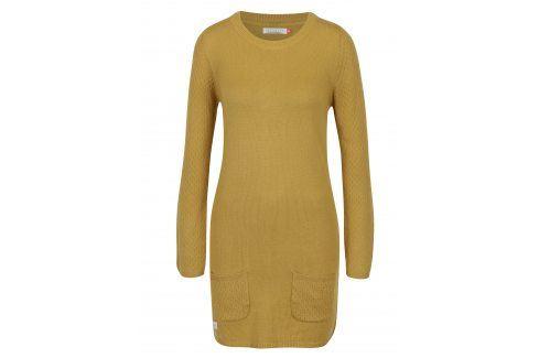 Hořčicové svetrové šaty s dlouhým rukávem Brakeburn šaty na denní nošení