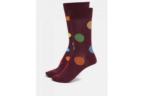 Vínové unisex puntíkované ponožky Fusakle Retráš letný ponožky