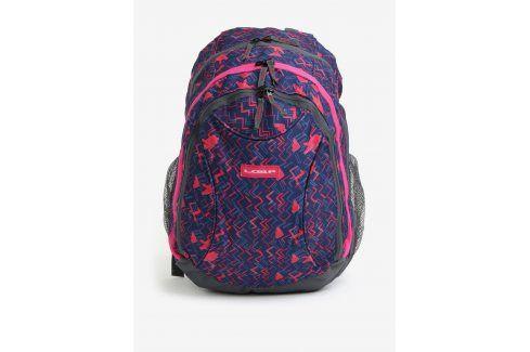 Modro-růžový vzorovaný holčičí batoh LOAP Shaw 25 l Batohy