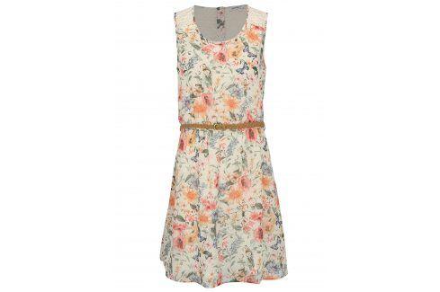 Krémové květované šaty s krajkou Haily´s Jana šaty na denní nošení