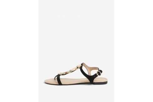 Černé sandály v semišové úpravě Dorothy Perkins sandály