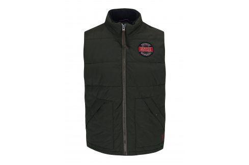 Tmavě zelená vesta s kapsami Jack & Jones Ground vesty