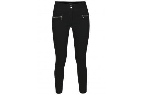 Černé  zkrácené skinny kalhoty se zipy Dorothy Perkins Džíny, kalhoty, legíny