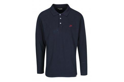 Tmavě modré polo tričko s dlouhým rukávem Shine Original polo trika