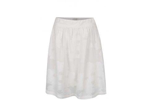 Krémová květovaná sukně Selected Femme Minastone Polodlouhé, ke kolenům