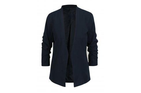 Tmavě modré sako s 3/4 rukávem  VILA Her Bundy, kabáty