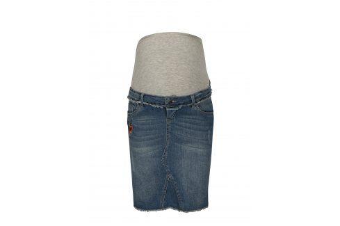 Modrá těhotenská džínová sukně Mama.licious Riga Móda pro těhotné