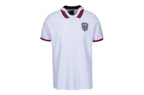 Bílé pánské polo tričko s výšivkou loga Jimmy Sanders polo trika