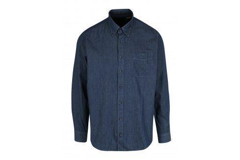 Tmavě modrá modern fit košile s jemným vzorem JP 1880 neformální