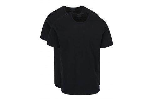 Sada dvou pánských černých slim fit triček pod košili Calvin Klein trika pod košile