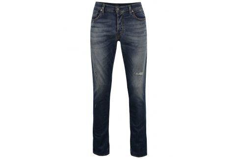 Tmavě modré džíny s potrhaným efektem Jack & Jones Glenn Icon džíny