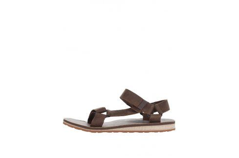 Hnědé kožené pánské sandály Teva sandály, pantofle