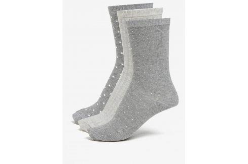Sada tří párů ponožek v šedé a krémové barvě Oasis Sparkle ponožky
