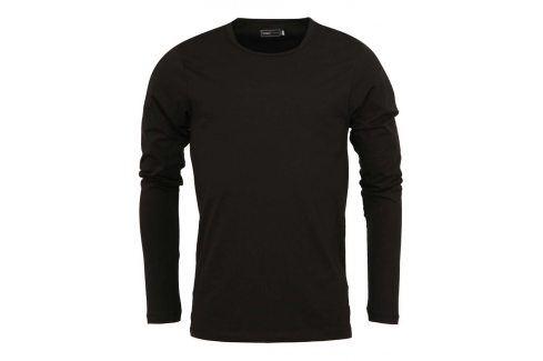 Černé tričko s dlouhým rukávem Jack & Jones Basic trika s dlouhým rukávem