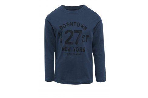 Tmavě modré klučičí triko s potiskem Blue Seven trička s dlouhým rukávem