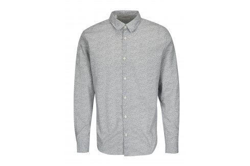 Černo-bílá vzorovaná slim fit košile Selected Homme One Mini neformální