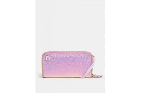 Růžová metalická velká peněženka  Anna Smith Peněženky