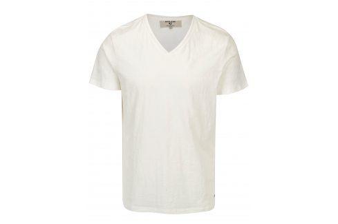 Krémové pánské tričko s véčkovým výstřihem Garcia Jeans Marco trika s krátkým rukávem